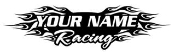 Personalized Racing 4 Decal Sticker