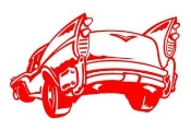 Chevy Hot Rod Cartoon Decal Sticker