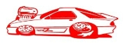 Dragster Cartoon v3 Decal Sticker