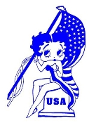 Betty Boop USA Decal Sticker