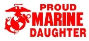 Marine Daughter Decal Sticker
