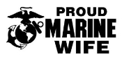 Marine Wife Decal Sticker