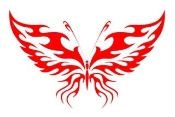 Tribal Butterfly 11 Decal Sticker
