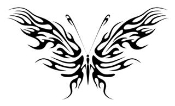 Tribal Butterfly 13 Decal Sticker