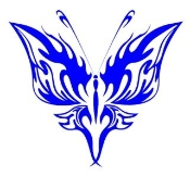 Tribal Butterfly 20 Decal Sticker