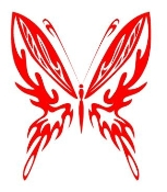 Tribal Butterfly 21 Decal Sticker