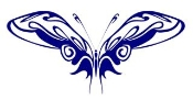 Tribal Butterfly 31 Decal Sticker