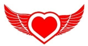 Heart with Wings v4 Decal Sticker