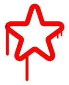 Drippy Star Decal Sticker