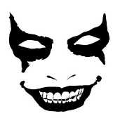Evil Face v1 Decal Sticker