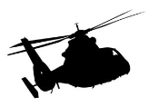 Helicopter 10 Decal Sticker