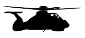 Helicopter 11 Decal Sticker