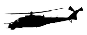 Helicopter 13 Decal Sticker