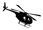 Helicopter 15 Decal Sticker