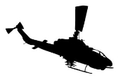 Helicopter 16 Decal Sticker