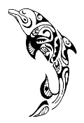 Tribal Dolphin 2 Decal Sticker