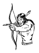 Warrior with Bow and Arrow 2 Decal Sticker