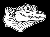 Gator Head Decal Sticker
