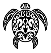 Tribal Turtle 2 Decal Sticker