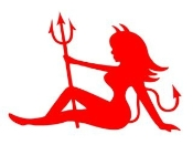Devil Girl 3 Decal Sticker