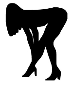 Girl Bent Over 3 Decal Sticker