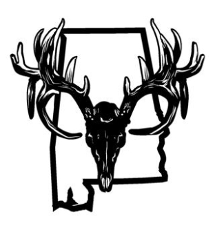 Alabama Deer Skull Decal Sticker