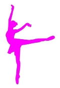 Ballet Dancer Silhouette v3 Decal Sticker