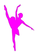 Ballet Dancer Silhouette v4 Decal Sticker