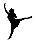 Dancer Silhouette v15 Decal Sticker