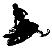 Snowmobile Silhouette v3 Decal Sticker