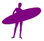 Surfer Girl Silhouette 6 Decal Sticker