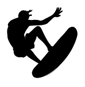 Surfer Silhouette 1 Decal Sticker