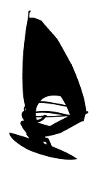 Windsurfer Silhouette 4 Decal Sticker