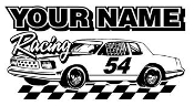 Personalized Hobby Stock Racing 1 Decal Sticker