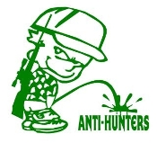 Piss On Anti Hunters Decal Sticker