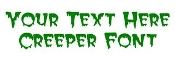 Creeper Font Decal Sticker