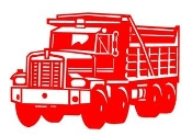Dump Truck Decal Sticker