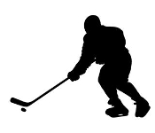 Hockey Player Silhouette Decal Sticker