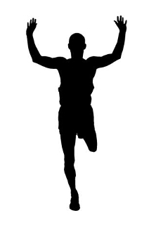Runner Silhouette 1 Decal Sticker