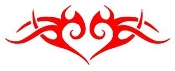 Tribal Heart v6 Decal Sticker