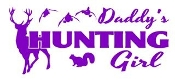 Daddys Hunting Girl Decal Sticker