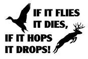 If It Hops It Drops Decal Sticker