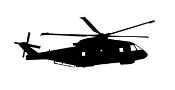 Helicopter 17 Decal Sticker