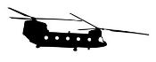 Helicopter 18 Decal Sticker