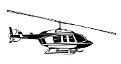 Helicopter 21 Decal Sticker