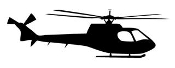 Helicopter 25 Decal Sticker