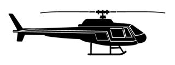 Helicopter 26 Decal Sticker