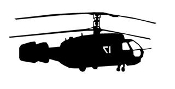 Helicopter 28 Decal Sticker