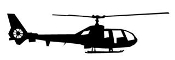 Helicopter 30 Decal Sticker
