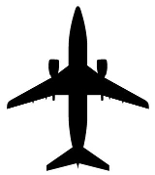 Jet Aircraft Silhouette 1 Decal Sticker